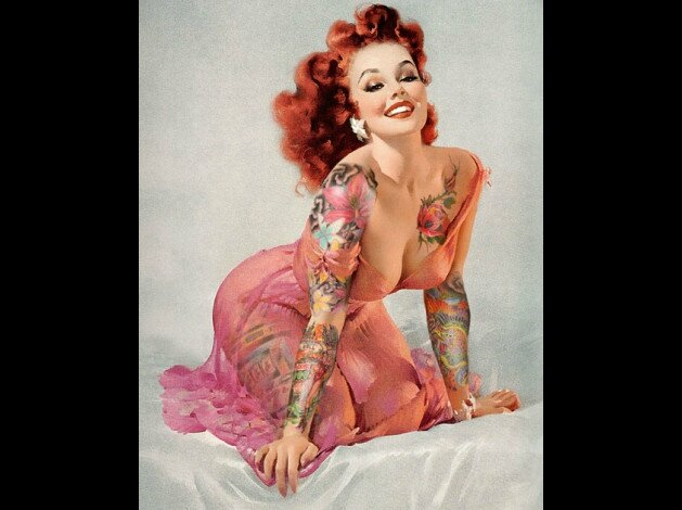 Pin-up-tatouee