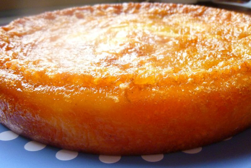 Gateau au pomme orange