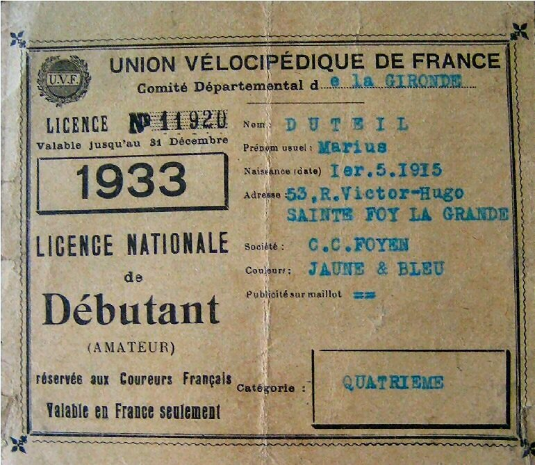 licence 1933