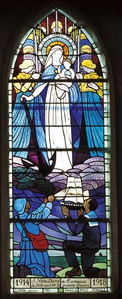 Le Mont Dol, chapelle ND d'Espérance, vitrail