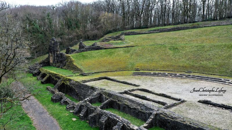 Théâtre Gallo-romain Les Bouchauds Saint-Cybardeaux Fevrier 2021 (5)