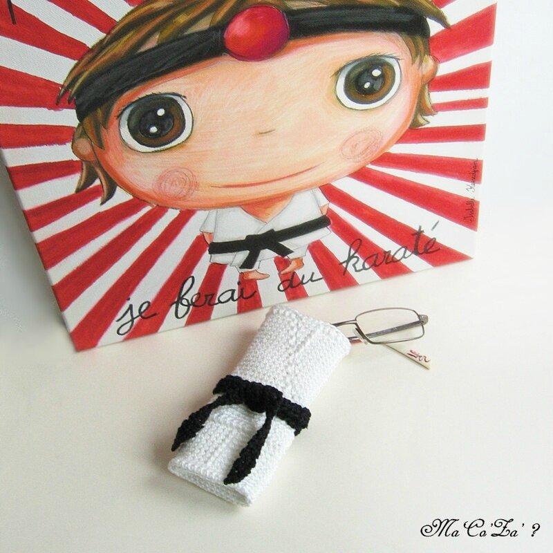 Etui lunette kimono au crochet 2
