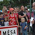 Inauguration panneau Mesa 2011