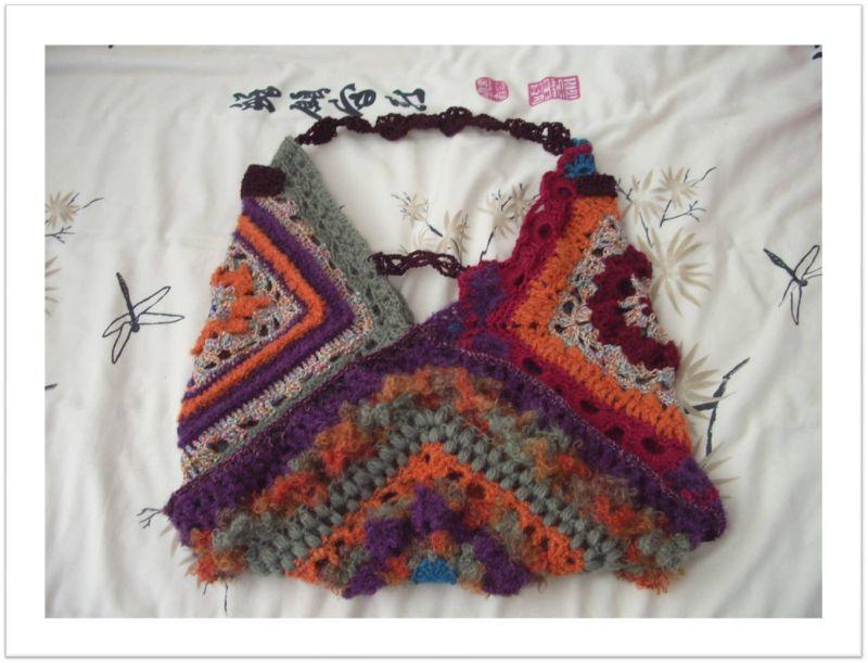 sac free form crochet
