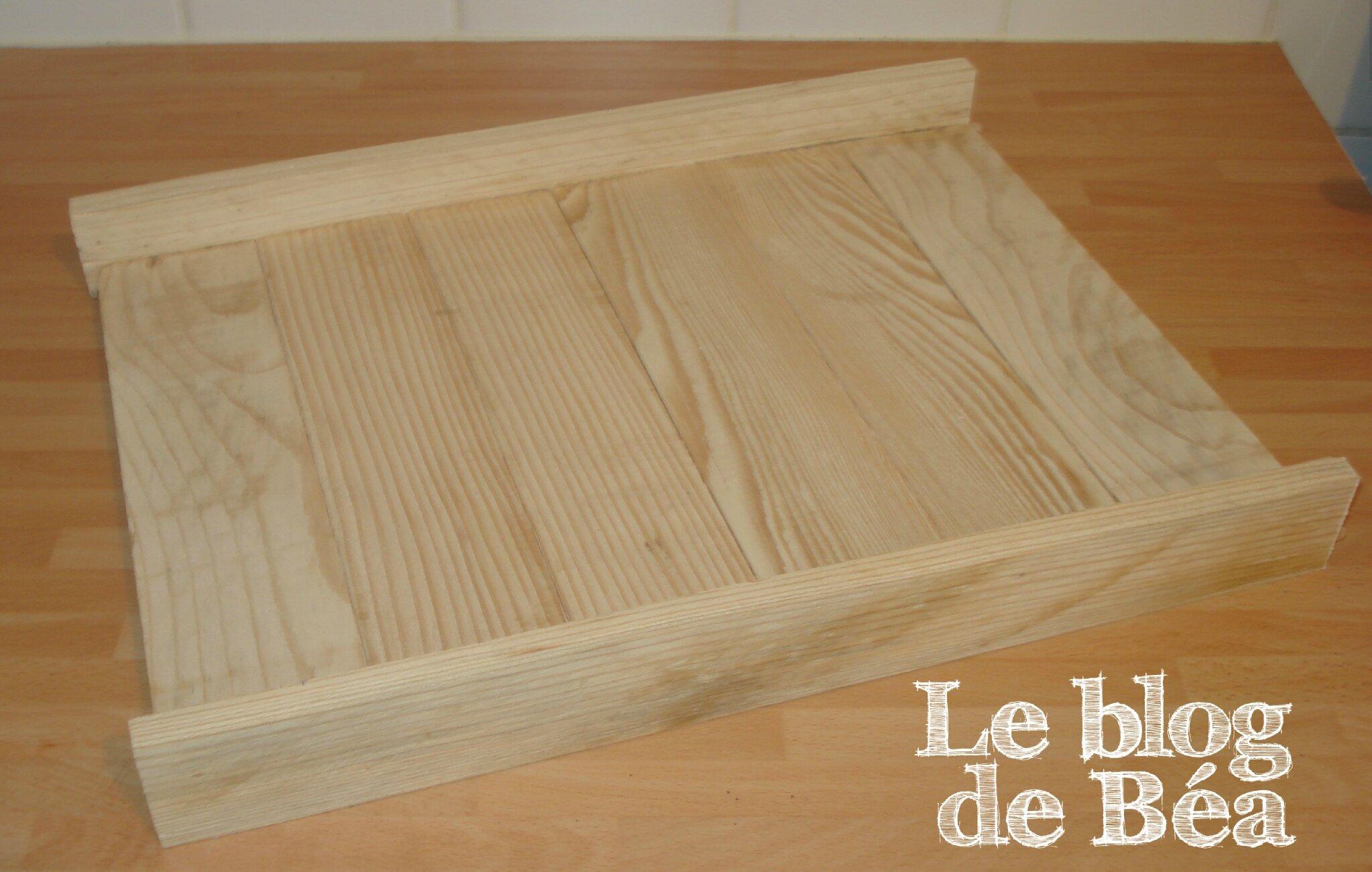DIY : un plateau en bois de palette