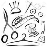 18732886-ensemble-d-outils-pour-la-couture-la-silhouette-Banque-d'images
