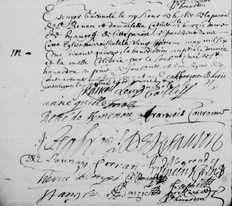 1675 M Guenole Le Ny à St Houardon