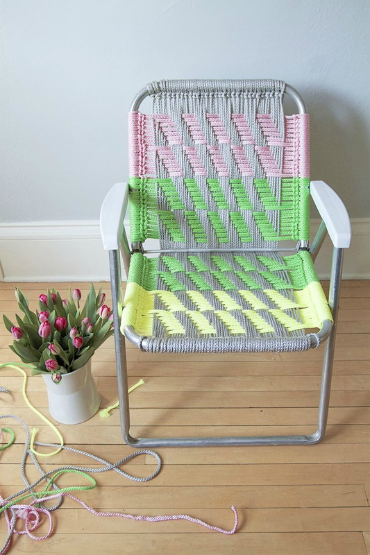 fauteuil macramé