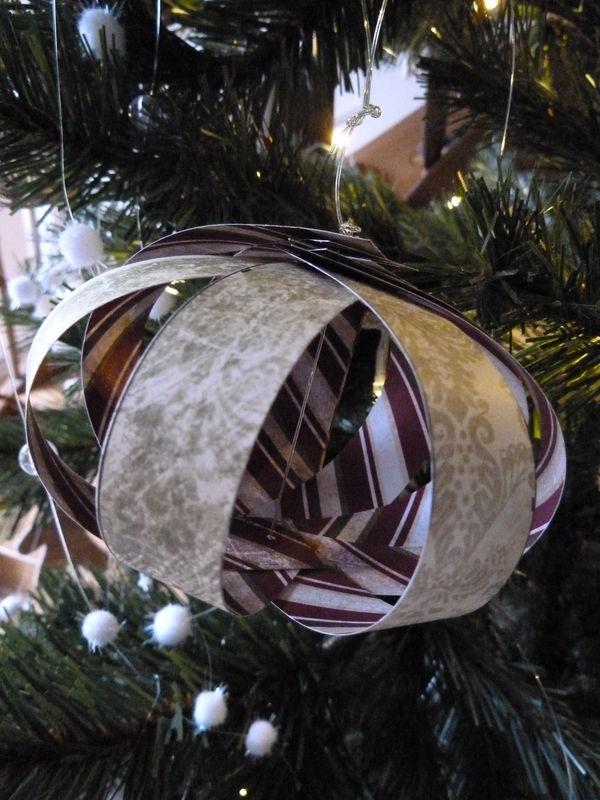 Boule de Noël en scrap.