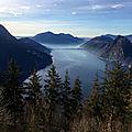 Lugano lake on Monte Brè