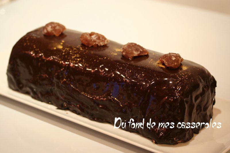 Buche chocolat marron