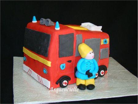 Gâteau Sam le pompier anglais