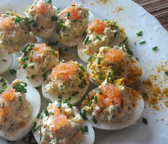 oeufs durs farcis au saumon fumé (3)