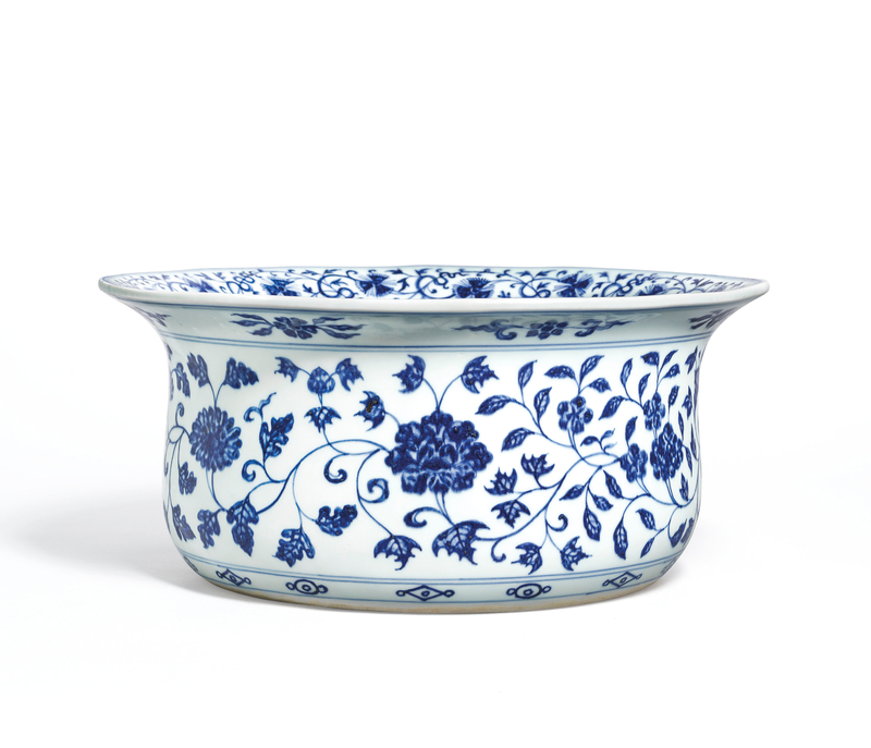 2020_HGK_18242_2826_001(a_very_rare_and_finely_painted_blue_and_white_basin_yongle_period)