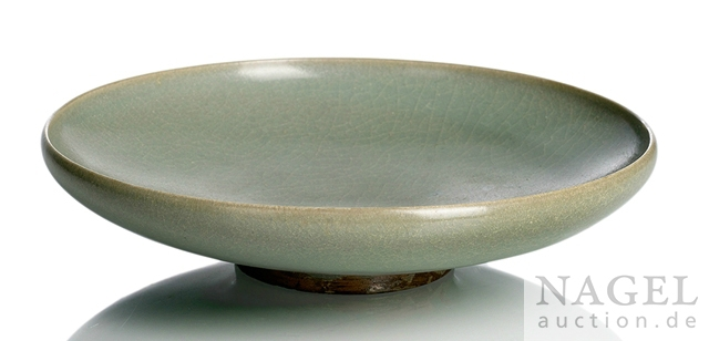 A green-glazed Junyao bowl, Song-Jin Dynasty