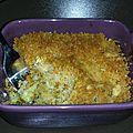 Crumble courgette & chevre