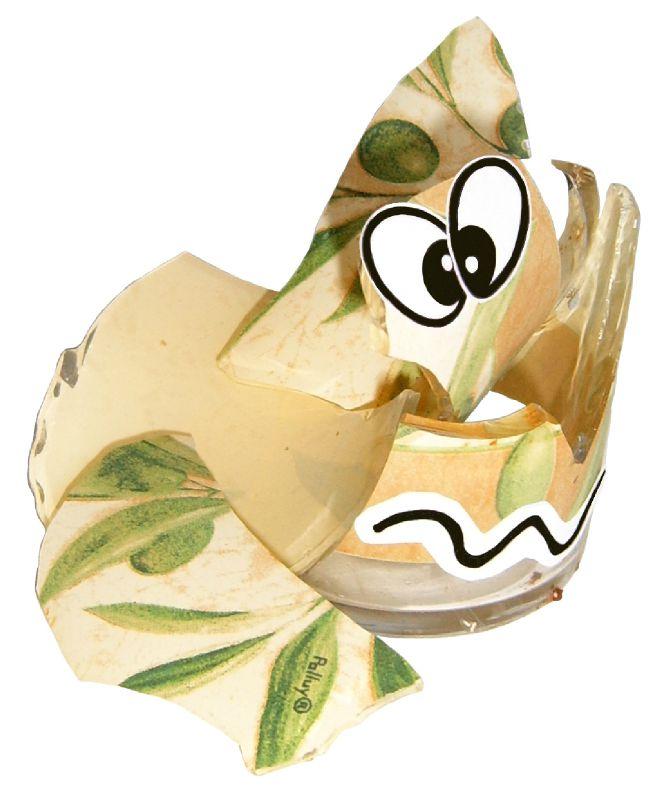 Déchet verre jaune cassé valorisation - Création Récupération - poubelle