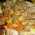 Faisan farci aux châtaignes avec ses légumes