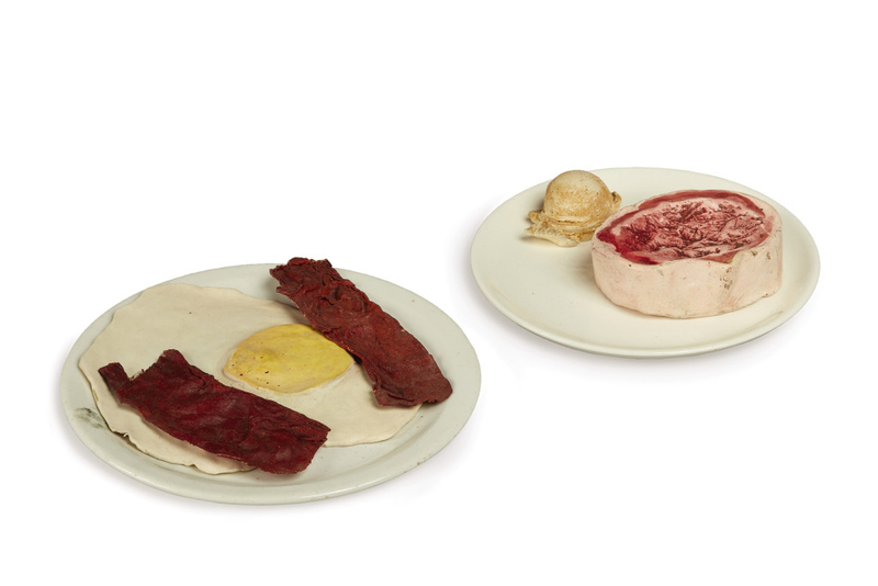 Claes-Oldenburg-Bacon-and-Egg-Ice-Cream-and-Beed-Steak-early-60s
