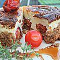 Une moisson bretonne de sérusier pour un cheesecake au blé noir, aux tomates rôties et au miel de ... sarrasin évidemment!