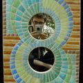 Miroir imitation mosaïque