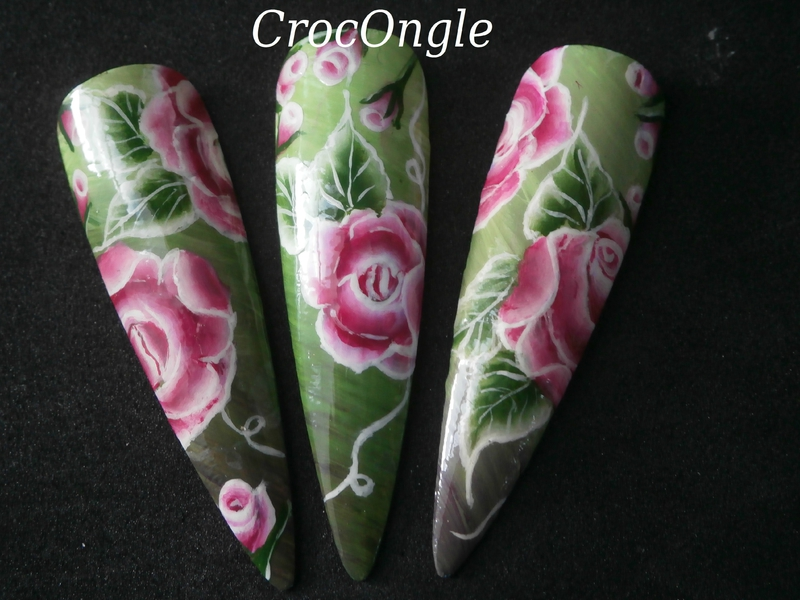 Nail art One Stroke Crocongle