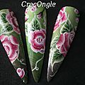 Nail art One Stroke Crocongle