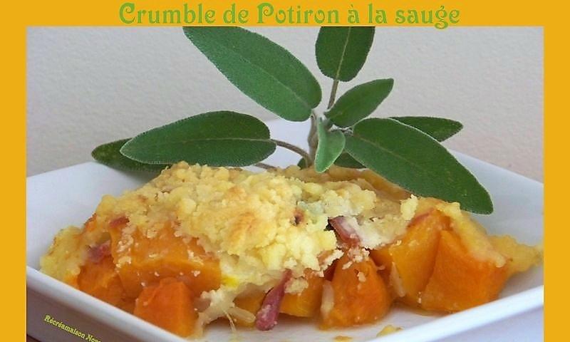Crumble de Potiron à la Sauge, Bacon et Parmesan