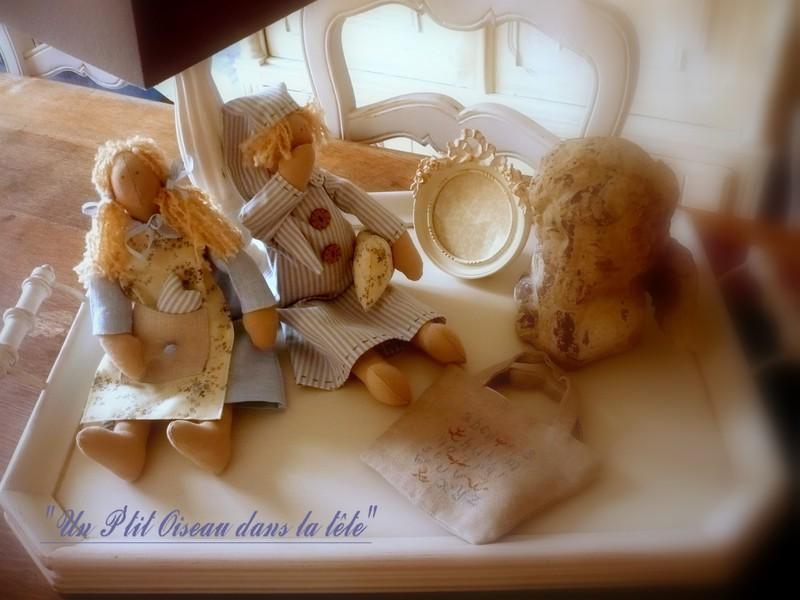 Premières poupées Tilda