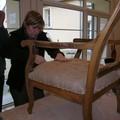 Florence et le fauteuil voltaire d'Yves