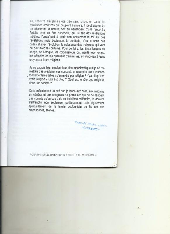 POUR UNE DECOLONISATION SPIRITUELLE DU MUKONGO 3
