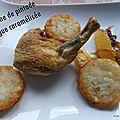 Suprême de pintade mangue caramélisée