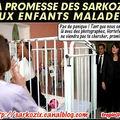 La promesse des sarkozy aux enfants qui souffrent