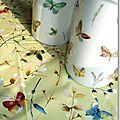 Vases aux papillons