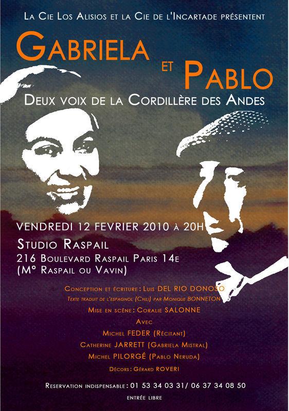 """""""Gabriela et Pablo, deux voixs de la Cordillère des Andes"""" de Luis del Rio Donoso avec Catherine Jarrett et Michel Pilorgé"""