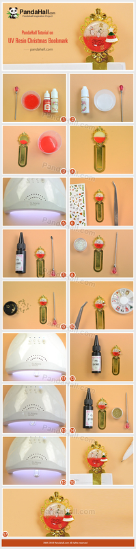 6-PandaHall-Tutorial-on-UV-Resin-Christmas-Bookmark