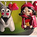 Boucles d'oreilles lou et lobo