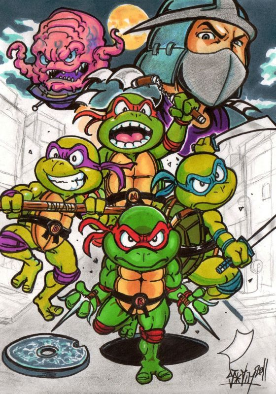 Teenage mutant ninja Turtles Fanart Shredder Krang tortues ninja Djiguito chocoblog djigui tim