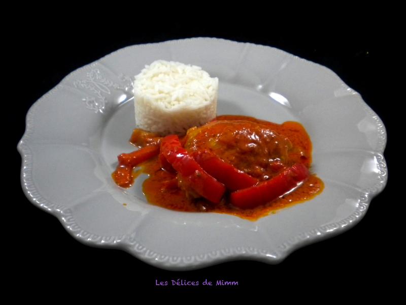 Poulet aux poivrons, tomates et mascarpone 2
