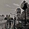 Instantané sur le quai Saint-Michel.