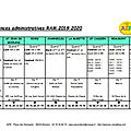 Permanences administratives 2019/2020