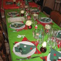 table de Noël enfantine