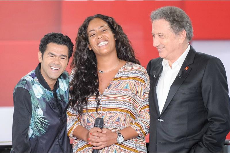 Jamel Debbouze avec Amel Bent et Michel Drucker - Vivement Dimanche