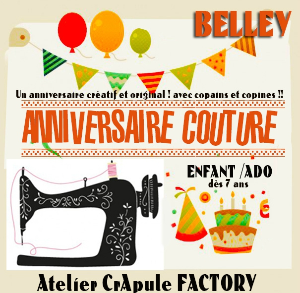 cadeau anniversaire couture enfant atelier crapule factory Belley