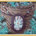 Collier Fimo étoile trans bleue n° 2