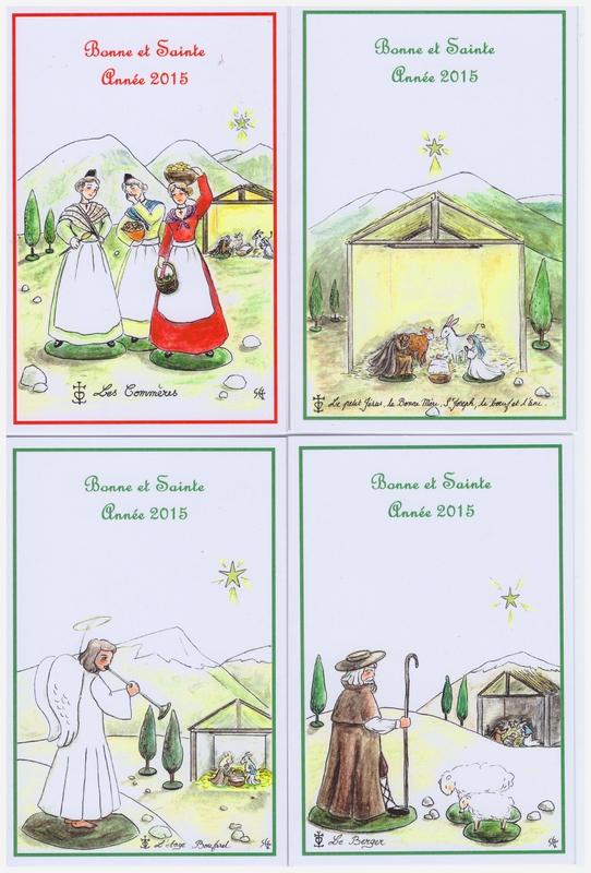 Cartes de Voeux Santons de provence pour les Chrétiens d'Irak Copyrights Sophie Gendrot 2014 (2)