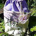Petit sac décoratif lilas (côté 3)