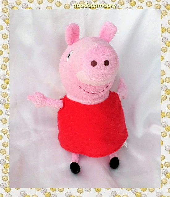 Doudou Peluche Peppa Pig Rose Robe Rouge Play By Play