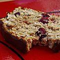 Cake moelleux aux cranberries et limoncello, glaçage au chocolat très noir - sans beurre ni huile