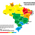 Brazilian States Compared Closest Country by Human Development Index